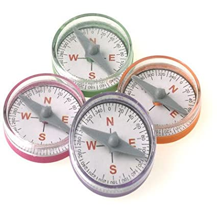 Mini Pastel Compasses Party Supply Pack of 36 U.S Toy