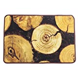 Cheap KEPSWET Retro Fashion Rural Style Rugs Large Livingroom Coffee Table Rug Brown Black Bedroom Carpet Non-slip Washable Tree Rings Area Rug (1'6×2'6, photo color)