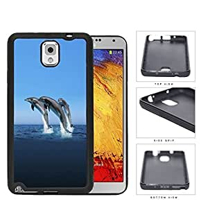 Dolphins Swimming In Ocean Rubber Silicone TPU Cell Phone Case Samsung Galaxy Note 3 III N9000 N9002 N9005 hjbrhga1544