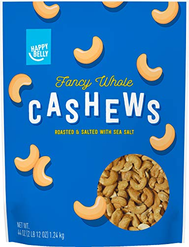 Amazon Brand - Happy Belly Fancy Whole Cashews, 44 Ounce ()