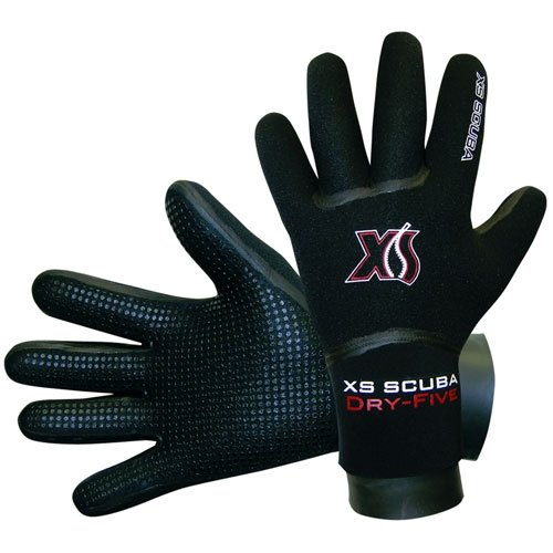XS Scuba Semi Dry Five Finger Gloves (Large)