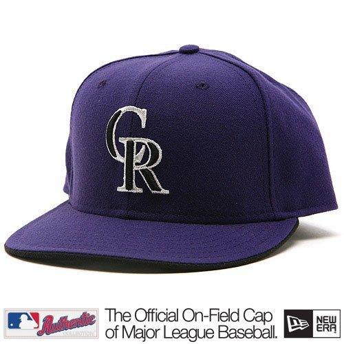 New Era 59Fifty MLB On Field Colorado Rockies Purple Black Silver Tb Altenate Fitted Cap Hat 7 5/8