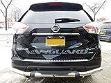 nissan rogue bumper guard - VANGUARD VGRBG-1030SS 2008-2015 Nissan Rogue, Rogue Select Rear Bumper Guard Single Tube Pintle S/S