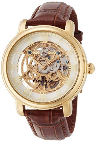Thomas Earnshaw ES-8040-02 Mens Longcase 43mm Brown Leather Strap Watch