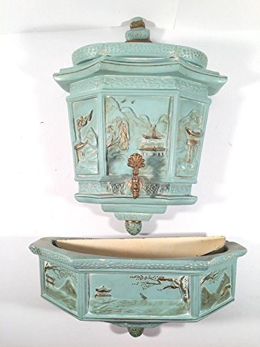 Alexander Backer ABCO Decorative Fountain Planter Vintage Chalkware Wall (Chalkware Wall Plaque)