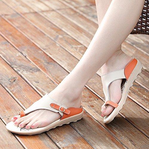 De Cuñas Sandalias Zapatillas De Cómodas Mamá De Planas Zapatos BFMEI Casual Orange Embarazadas Mujer Antideslizantes Sandalias Mujeres xY5WFq4wCw