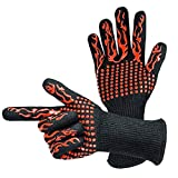 Dartphew Home Men Women Grilling Cooking Mens Gloves Extreme Heat Resistant Oven Welding Gloves Outdoor BBQ Party Cooking Baking Oven Machine Washable (Made with CE-Level 3 Cut Resistant Fiber)