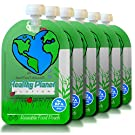 Reusable Food Pouch Baby Food Storage 6 Pack Easy Fill and Clean Leakproof Dual Zipper for Homemade Organic Baby Food Refillable Containers, Toddlers, Travel Freezer