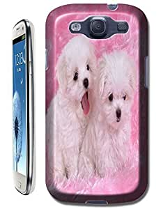 Color Pink and White dogs on the bed Smile cell phone cases for Samsung Galaxy S3