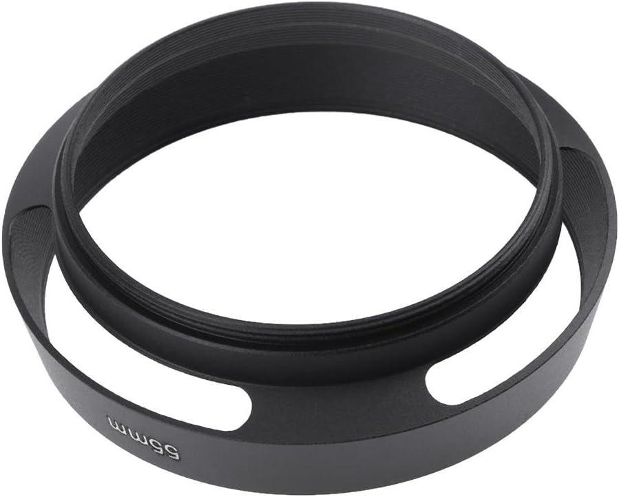 Domybest Pare-Soleil Incurv/é Ventil/é en M/étal Noir pour Objectif Appareil Photo Reflex pour Leica Canon Nikon Sony Nexax Olympus