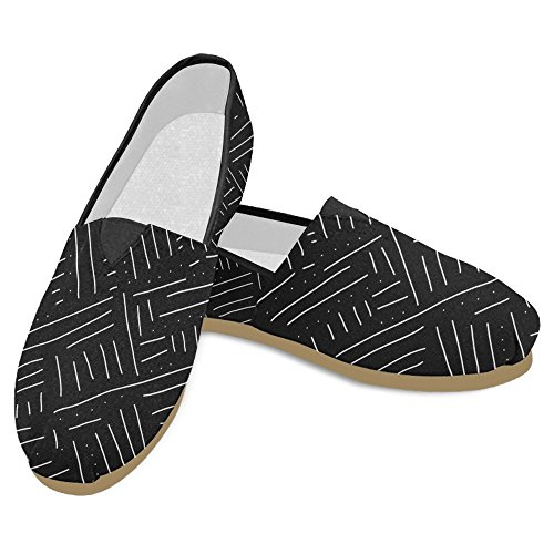 Interestprint Womens Loafers Klassiska Avslappnade Kanfassnedsteget På Mode Skor Gymnastik Lägenheter Abstrakta