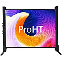 ProHT 40 Foldable Desk Projection Screens (05365A), Portable Table Projector Screen, 4:3 Aspect Ratio, 1.0-1.2 Gain, Matte White, Black Frame, Suitable for HDTV/Sports/Movies/Presentations