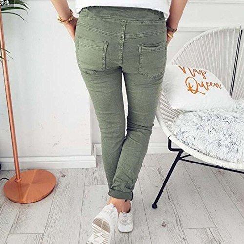 Crayon La Décontracté Extensible Huateng Élastique Mode Avec Pour Armée Capris Fit Plus Dames Verte Taille Pantalon Femmes Haute De Poches Confortable Slim dEOwqOrHSx