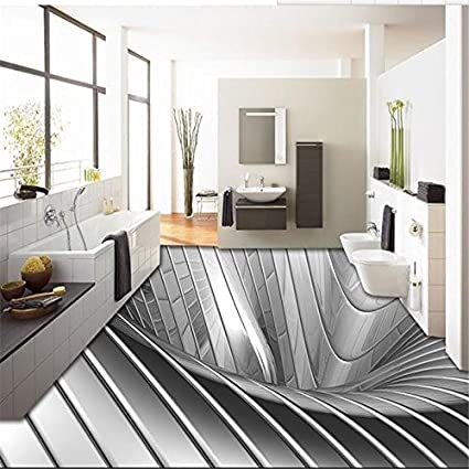 LHDLily 3D Wallpaper Mural Wall Sticker Thickening Stereoscopic Illusion Painting Art Graffiti Painted Boardwalk Papele