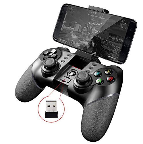 iPega PG-9076  Wireless+ 2.4G Wireless Gamepad Controller for Samsung Galaxy S9 /S9+ Google oppo vivo of Android devices Smartphone Tablet TV Box PS3