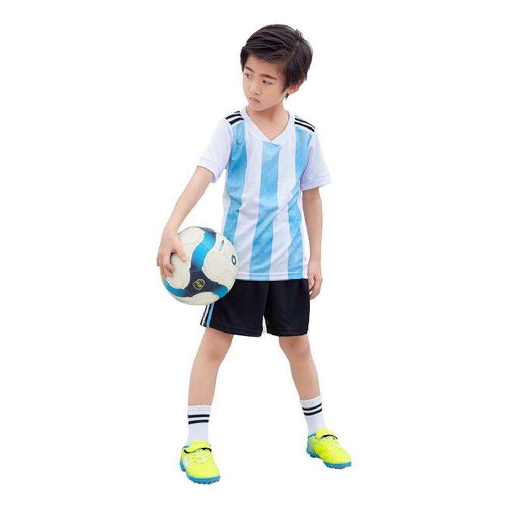 fa65086d4 Amazon.com   Sykdybz Argentina Jersey Children s Soccer Clothing Suit 2018  Fans Football Clothes Primary School Boys and Girls Gifts