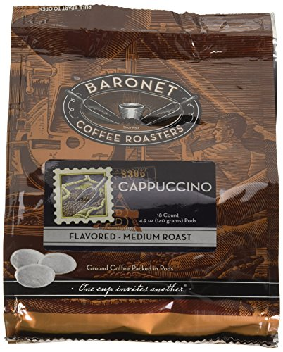 Baronet Coffee Cappuccino Coffee Pods, 54 -