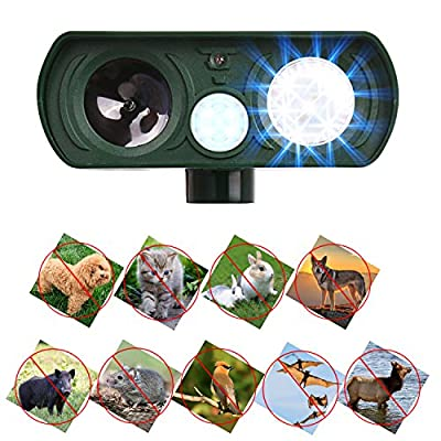 A Plus Dog Repellent, Outdoor Solar Powered and Weatherproof Ultrasonic Dog/Cat/Mosquito Repeller
