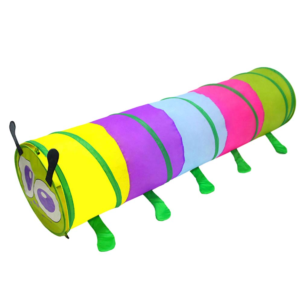LIOOBO Kids Colorful Playing Tent Crawl Caterpillar Shaped Tunnel Playhouse for Babies Toddlers Children by LIOOBO