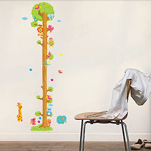 Pink Lizard Removerable PVC Animal Height Wall Sticker Cartoon Height Sticker by Pink Lizard Products (Image #2)