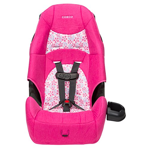 Cosco Highback 2-in-1 Booster Car Seat 5-Point Harness or Belt-positioning Machine Washable Fabric , Ava
