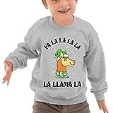 Puppylol Fa La La La La La Llama La Kids Classic Crew-neck Pullover Sweatshirt Ash