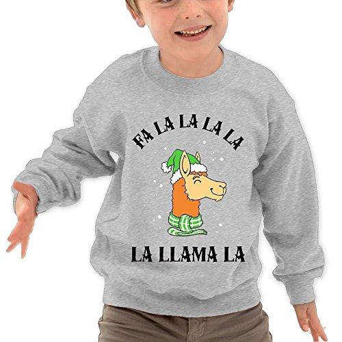 Price comparison product image Puppylol Fa La La La La La Llama La Kids Classic Crew-neck Pullover Hoodie Ash 3 Toddler