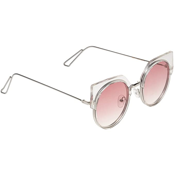 990e86a702 Image Unavailable. Image not available for. Color  Jeepers Peepers Ladies Cat  Eye Womens Sunglasses Pink