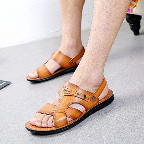 Sandalias Sandalias De Los Hombres Zapatillas Zapatos De Vadeo Exterior Yellow