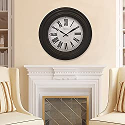 Westclox 20 in. Brown Case Wall Clock