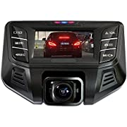 PowerLead FULL HD 2304*1296P Car Camera Recorder with GPS Logger 170 Degree Wide Angle Lens WDR Night G-Sensor Car DVR Backup Cameras