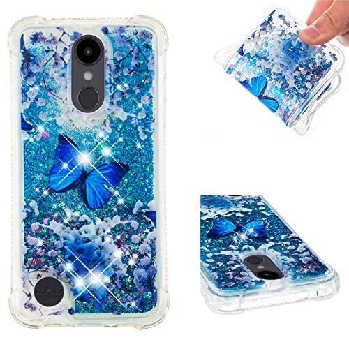 DAMONDY LG Aristo 2/LG Aristo 2 Plus/LG Tribute Dynasty/LG Fortune Case, 3D Pattern Cute Bling Liquid Glitter Hybrid Shockproof Bumper Floating Quicksand Diamond Flowing Soft TPU Case-lanhudie
