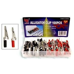 """BR Tools Alligator Clip Assorted Mini Type 2"""" - 100 Pieces"""