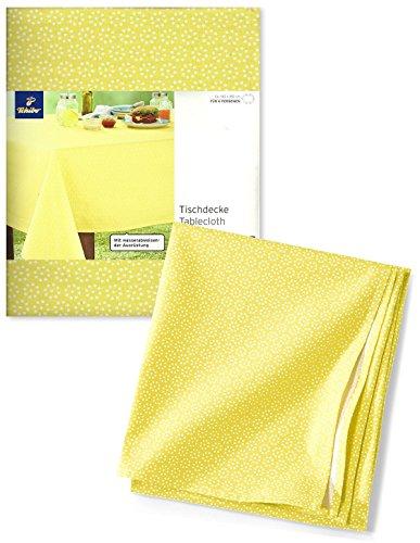 TCM Tchibo Tischdecke Tafeldecke wasserabweisend gelb (140x180 cm)
