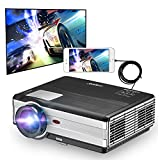Video Projector Home Theater Cinema - 3500 Lumens LED LCD 1080P Movie Gaming (2017 Upgraded) for iPhone Android Smartphone DVD Game Consoles including Free HDMI Cable, USB, Built-in Speaker, Keystone