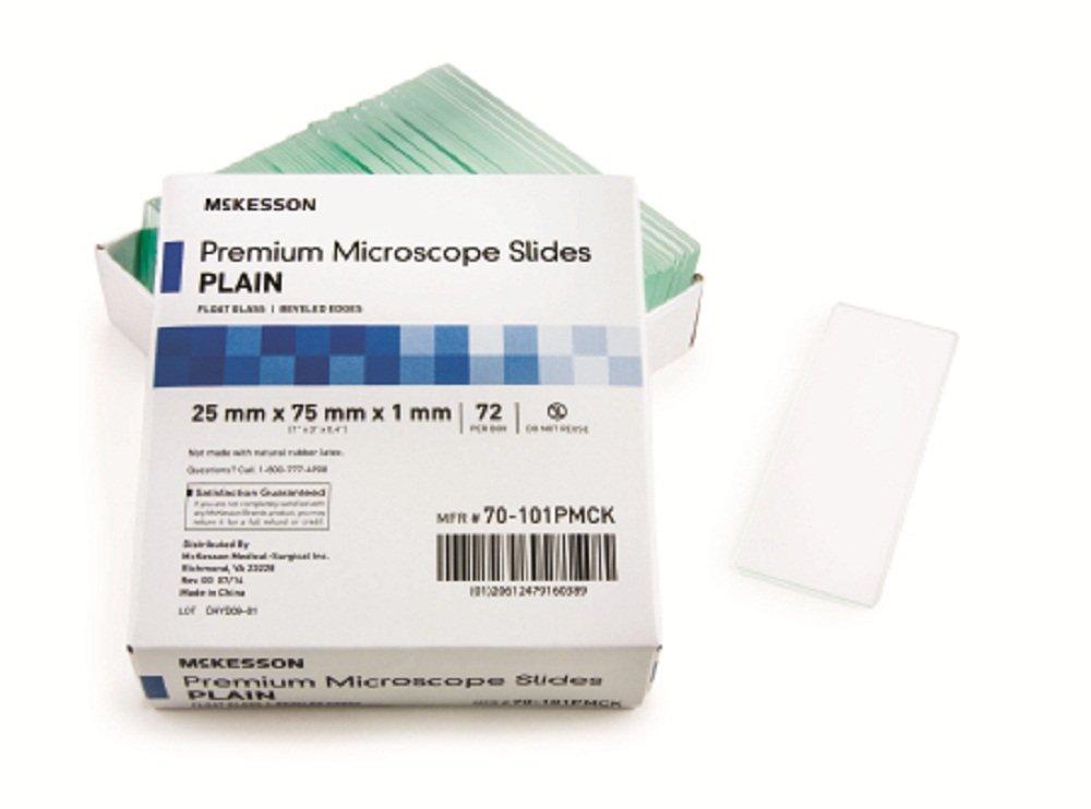 McKesson 70-101PMCK Microscope Slide 25 x 75 x 1 mm Plain (Pack of 72) by McKesson