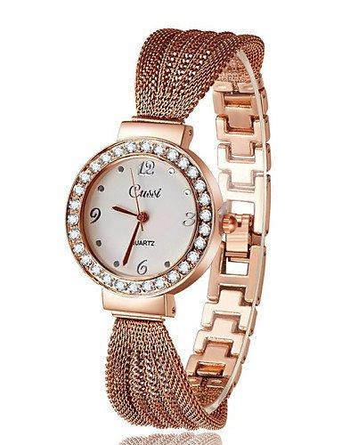 qfdzhs nuevo caliente vender Nice Correa de Acero Inoxidable Crystal Lujo Mujeres Reloj De Pulsera. Moda Reloj Atmos Vestido Relojes, Rose Gold: Amazon.es: ...