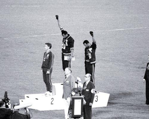Black Power Tommie Smith & John Carlos, Mexico City Olympics, 1968 Art Poster Print