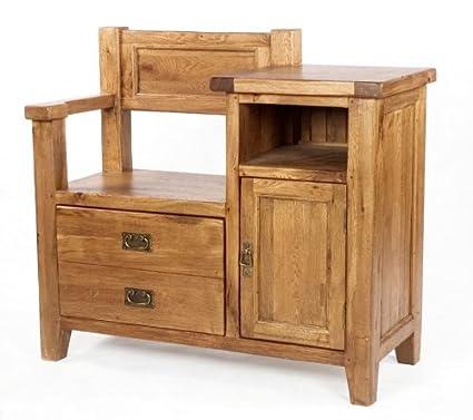 Neo hall estante para zapatos mesa auxiliar madera maciza de roble ...