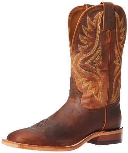 Tony Lama Men's Worn Goat 7956 Western Boot,Tan,9.5 D US (Goat Cowboy Boots)
