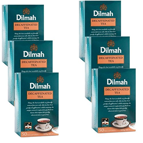 - Dilmah Decaffeinated Ceylon Black Tea - 50 Tea Bags X 6 Pack - Sri Lanka Ceylon Dilmah Decaf Black Tea Bags Box