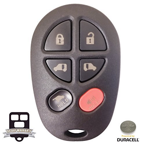 2004-2010 Toyota Sienna XLE Six Button Keyless Entry Remote Fob Clicker With Free Do-It-Yourself Programming and Free eKeylessRemotes Guide by ekeylessremotes
