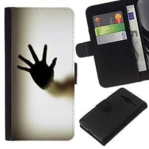 """Be-Star la tarjeta de Cr¨¦dito Slots PU Funda de cuero Monedero caso cubierta de piel Para Samsung Galaxy Core Prime ( Cuerpo de la mano de Palm Ventana de huellas dactilares Arte"""" )"""