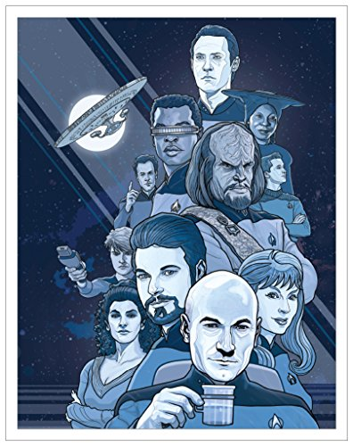 Star Trek The Next Generation Boldly Going (P.J. McQuade) Characters Sci-Fi TV Television Show Postcard Print 11x14