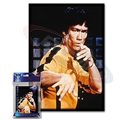 Max Protection (60) Bruce Lee Small Gaming Card Protector Sleeves for Yu-Gi-Oh! Cards: Toys & Games