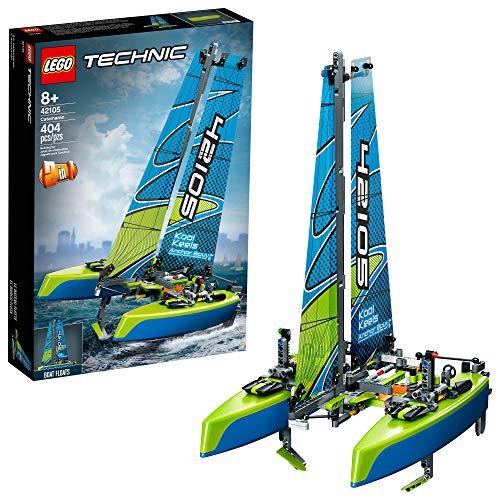 LEGO Technic Catamaran 42105 Model Sailboat Building Kit, New 2020 (404 Pieces)