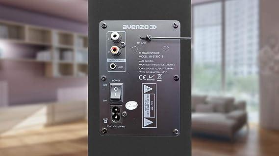 Altavoz Torre de Sonido Bluetooth AV-ST4001B (2.1, 45 W, USB ...
