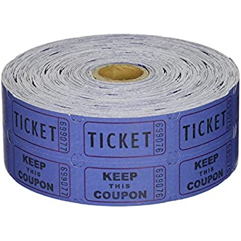 Amazon.Com : Blue Double Raffle Ticket Roll 2000 : Office Products