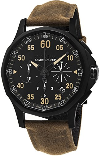 Corum Admiral's Cup Legend 42 Chrono Men's Black PVD Automatic Swiss Made Watch 984.101.98/F502 AN46