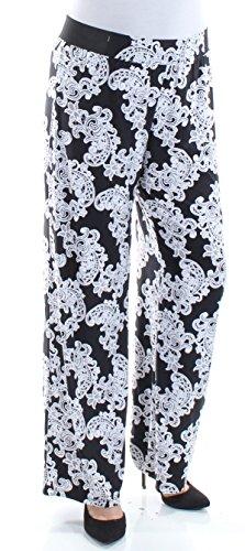 INC International Concepts Printed Wide-Leg Soft Pants (Lace Flower Shop, L)